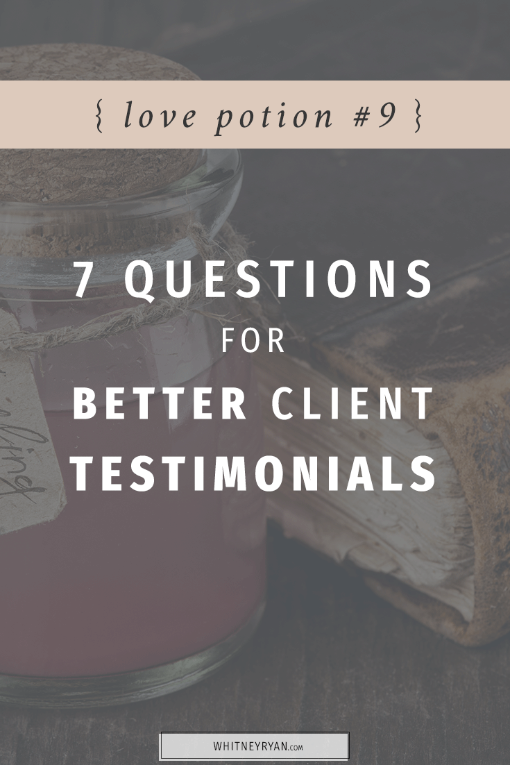7 questions that get better client testimonials
